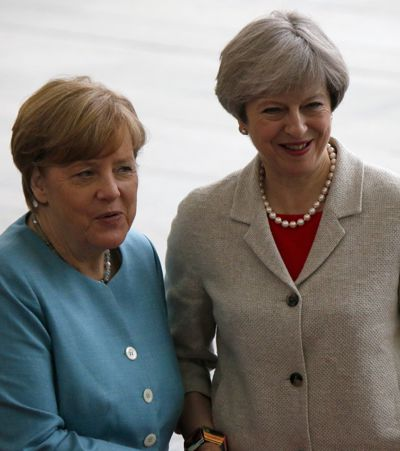 German Chancellor Angela Merkel and British Prime Minister Theresa May