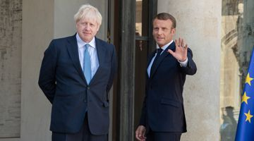 Boris Johnson and Emanuel Macron