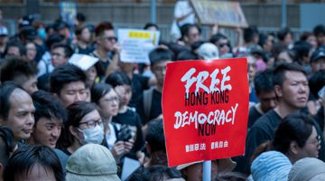 Hong Kong protesters, Free Hong Kong, Democracy now.