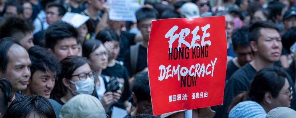 Hong Kong protesters, Free Hong Kong, Democracy now.