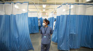 India hospital ward Covid-19 coronavirus