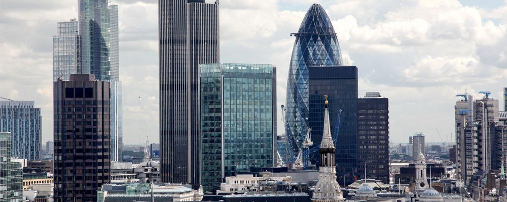 London city skyline UK