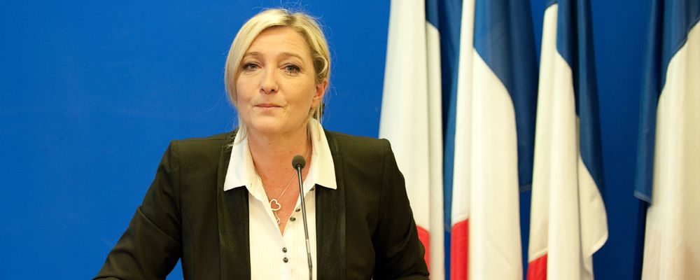 Marine Le Pen,  French politician and lawyer, and President of the National Front