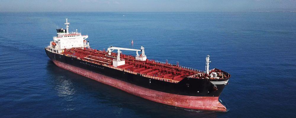 oil tanker ship sailing on open sea