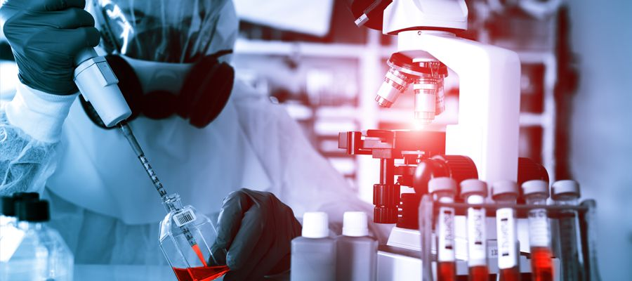 Laboratory examination of Virus
