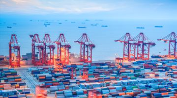 shanghai container terminal ,yangshan deep-water port , China