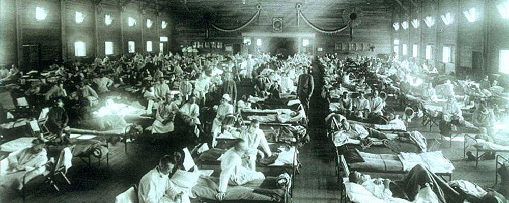 Emergency military hospital during Spanish Flu epidemic