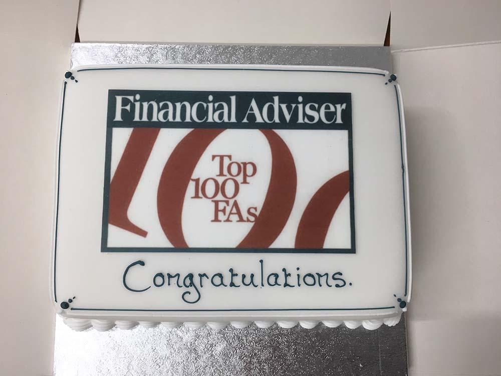 Top 100 Financial Advisers Cake 2018
